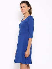 Style Quotient Women Blue Solid A-line Dress