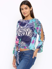 Style Quotient Women Blue Printed Top