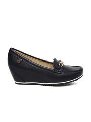 Carlton London Women Navy Wedge Loafers