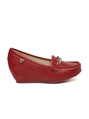 Carlton London Women Red Wedge Loafers