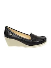 Carlton London Women Black Wedge Loafers