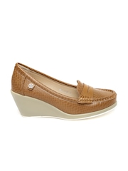 Carlton London Women Brown Wedge Loafers