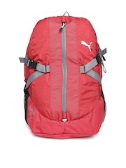 Puma Unisex Red Apex Laptop Backpack