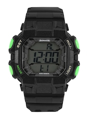 Sonata Ocean Series Men Black Digital Watch NH77025PP01J