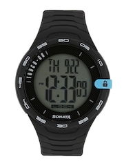 Sonata Men Ocean Series Black Digital Watch 77041PP03J