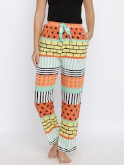 Red Rose Multicoloured Printed Lounge Pants T-033