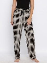 Red Rose Black Checked Lounge Pants T-036