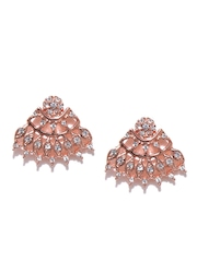 Estelle Rose Gold Stone Stud Earrings