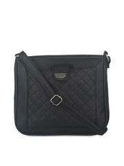 ESBEDA Black Quilted Sling bag