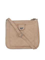 ESBEDA Beige Quilted Sling bag