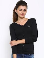 Ajile by Pantaloons Women Black Cardigan