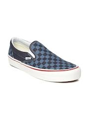 Vans Unisex Navy Printed Slip-On Sneakers