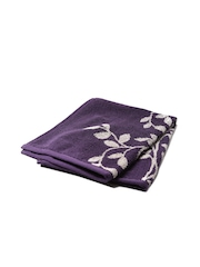 BOMBAY DYEING Purple Printed Cotton 480 GSM Hand Towel