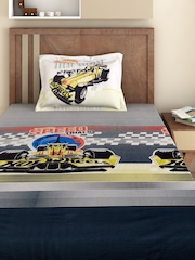 BOMBAY DYEING Boys Multicoloured Cotton 144 TC Single Bedsheet with 1 Pillow Cover