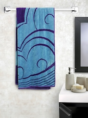 BOMBAY DYEING Blue & Purple Patterned Cotton 400 GSM Beach Towel