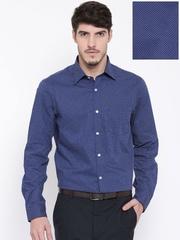 Arrow Men Navy Slim Fit Printed Formal Shirt