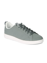 Adidas NEO Men Grey Perforated Advantage Clean Sneakers
