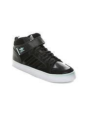 Adidas Originals Men Black Varial II MD Solid Mid-Top Sneakers