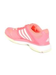 Adidas Women Pink Barricade Club Tennis Shoes