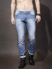 Roadster Men Blue Slim Fit Mid Rise Clean Look Jeans