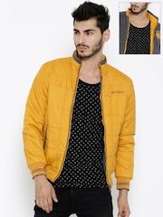 Fort Collins Mustard Yellow & Grey Reversible Bomber Jacket