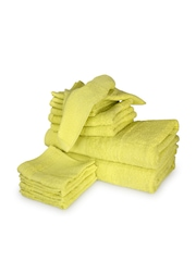 Tomatillo Set of 12 Green Cotton Towels