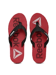 Reebok Men Black & Red Flip-Flops