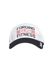 Reebok Unisex White & Black Printed CrossFit Baseball Cap