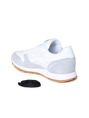 Reebok Women White & Grey Leather Training Shoes
