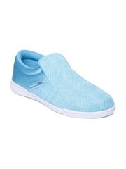 Reebok Women Blue Court Slip-on Sneakers