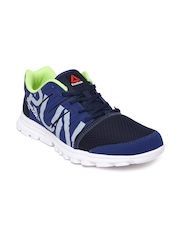 Reebok Men Navy Blue & Grey Ultra Speed Printed Running Shoes