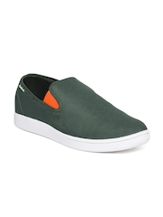 Reebok Men Green Solid Court St Slip-On Sneakers