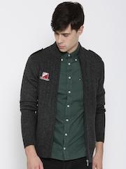 FILA Charcoal Grey Deck Self-Striped Cardigan