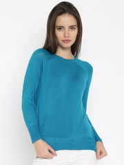Lee Women Turquoise Blue Sweater