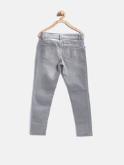 The Childrens Place Girls Grey Washed Jeggings