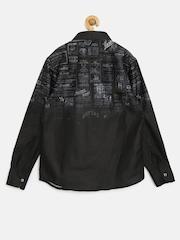 RUFF Boys Black Printed Shirt