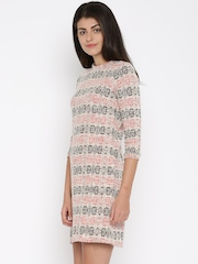 AND Women Off-White A-Line Dress