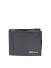 United Colors of Benetton Men Black Genuine Leather Wallet