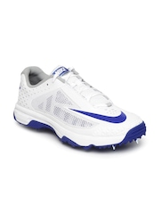 Nike Men White Cricket Shoes