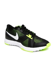 Nike Men Black & Fluorescent Green Air Epic Speed Training Shoes