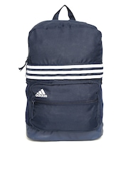 Adidas Unisex Navy ASBP M 3S Striped Backpack
