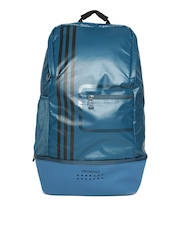 Adidas Unisex Teal Blue CLMCO Striped Laptop Backpack