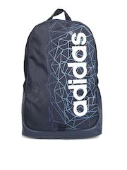 Adidas NEO Men Navy Brand Print Backpack