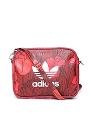 Adidas Originals Red Floral Print Airliner Sling Bag