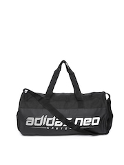 Adidas NEO Men Black Logo Print Sports Gymbag