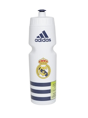 Adidas Unisex White Real Madrid Football Club Sipper Water Bottle