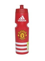 Adidas Unisex Red Manchester United Football Club Sipper Water Bottle