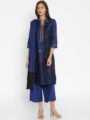 Biba Navy Salwar Suit with Dupatta