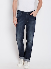 United Colors of Benetton Men Navy Slim Straight Fit Mid-Rise Clean Look Jeans
