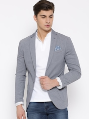 United Colors of Benetton Blue Single-Breasted Casual Blazer